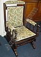 An Edwardian American Rocking Chair