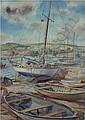 GORDON ARNOLD 'Boats in Harbour, Devon'