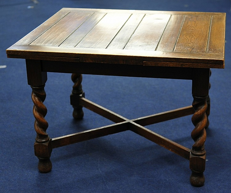 Various oak furniture circa 1920 including draw