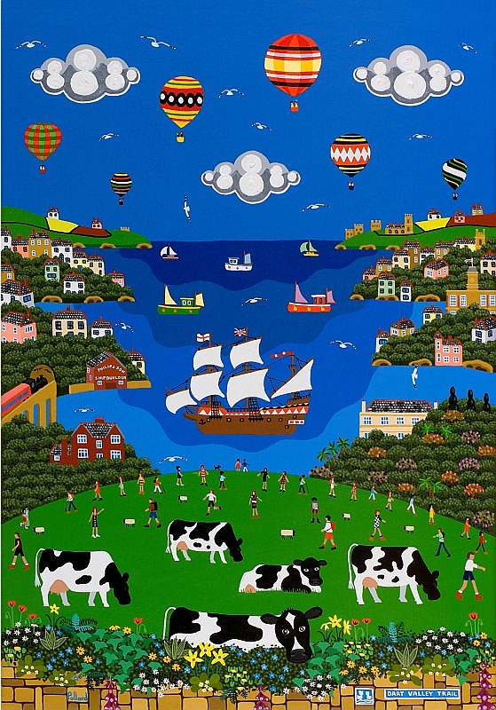 BRIAN POLLARD Limited Edition print 'Dart Valley