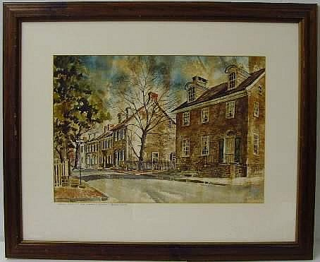 Fred Bees signed Watercolor