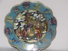 Important rare and large Antique Chinese Clossone box w/ mixed metal sculpture in high relief