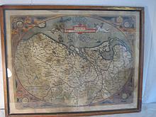 Antique color map of German Interior