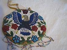 native American beaded purse
