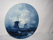 Hand Painted Gouda Delft artist signed plates