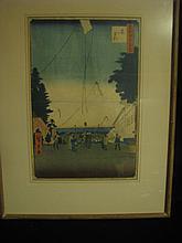 Japanese wood block print (Hiroshigate