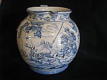 Huge French Faience water pitcher