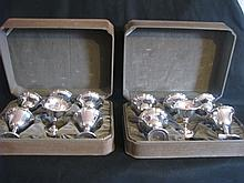 12 Sterling sherbet cups