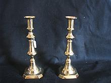 Pperiod brass candle sticks