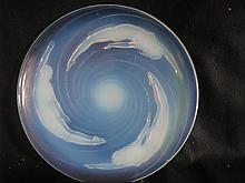 Important Paul Sabino opalescent art glass charger