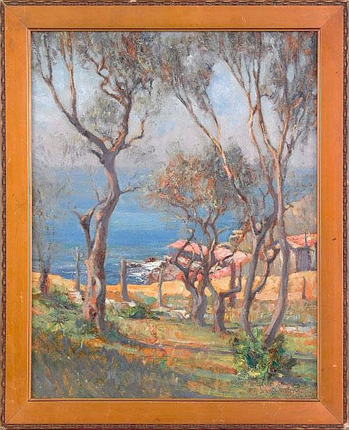 Lidio Ajmone (Italian, 1884-1945), oil on board