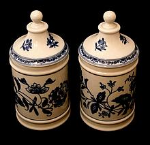 PAIR OF POTS OF PHARMACY