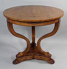 BIEDERMEIER STYLE FRUITWOOD SMALL CENTER TABLE