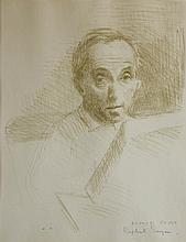 RAPHAEL SOYER (AMERICAN, 1899-1987) SELF PORTRAIT Lithograph: 12 x 9 1/2 in. (sight)