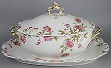 FIELD HAVILAND LIMOGES COVERED TUREEN AND TRAY