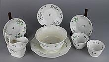 EIGHT ENGLISH FLOWER DECORATED TEAWARES