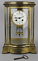 MARTI ET CIE FRENCH BRASS MANTEL CLOCK