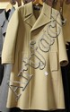 GIVENCHY GENTLEMAN PARIS CAMEL DOUBLE BREASTED WOOL COAT