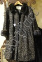 SCHIAPARELLI PERSIAN LAMB AND MINK COAT