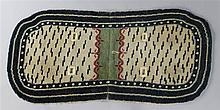 RARE TIBETAN WOOL TIGER-PATTERN SADDLE RUG