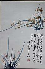 XU SHICHANG (CHINESE, 1855-1939) ORCHID Ink on paper: 26 x 17 in.