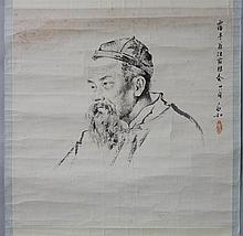 AFTER JIANG ZHAOHE (CHINESE, 1904-1986) OLD MAN - AITING Ink on paper: 22 X 19 3/4 in.