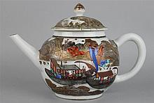 CHINESE EXPORT TEAPOT, 18TH C.