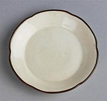 CHINESE DING TYPE SMALL DISH WITH METAL RIM