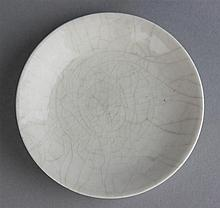 CHINESE CRACKLE-GLAZED DISH, POSSIBLY SONG DYNASTY