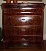 BIEDERMEIER STYLE MAHOGANY CHEST OF DRAWERS