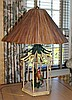 CHELSEA HOUSE PARROT CHINOISERIE LAMP WITH BAMBOO SHADE