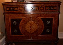 NEOCLASSICAL STYLE MAHOGANY INLAID COMMODE