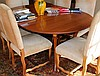 WRIGHT TABLE COMPANY FRENCH COUNTRY FRUITWOOD OVAL DINING TABLE, INCLUDING TWO LEAVES