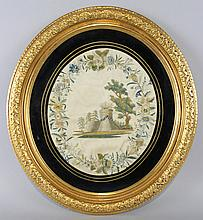 NEOCLASSICAL SILK EMBROIDERED MEMORIAL