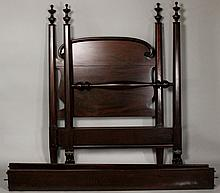 AMERICAN EMPIRE STYLE MAHOGANY SINGLE POSTER BED