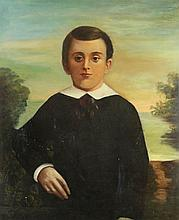 AMERICAN SCHOOL (19TH/20TH CENTURY) PORTRAIT OF A YOUNG BOY Oil on canvas: 31 x 25 in.