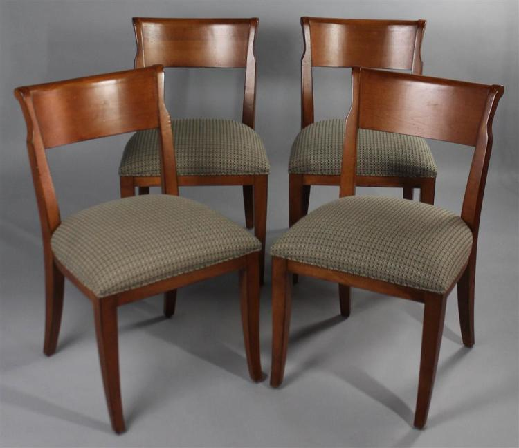 Set Of Four Kravet Furniture Biedermeier Style Walnut Dining