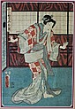 PAIR OF JAPANESE UKIYO-E ACTOR PRINTS BY KUNISADA