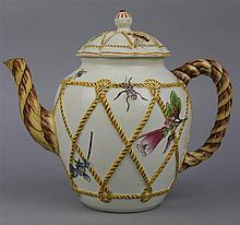 WEDGWOOD ROPE-MOLDED TEAPOT AND COVER