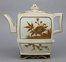 ROYAL WORCESTER TEAPOT, COVER AND STAND
