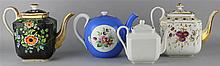 RUSSIAN (GARDNER) PORCELAIN BRIGHT BLUE GROUND TEAPOT AND COVER