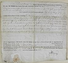 PATRICK HENRY SIGNED LAND GRANT, MAY 1786