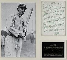 TY COBB HANDWRITTEN, SIGNED LETTER, DATED 12/30/52