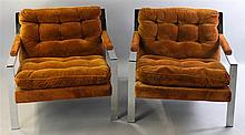 PAIR OF MILO BAUGHMAN FOR THAYER COGGIN NO. 951-103 MILO LOUNGE CHAIRS
