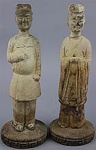 PAIR OF POTTERY MALE FIGURES