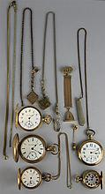 COLLECTION OF AMERICAN POCKET WATCHES