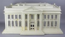 AMERICAN HERITAGE COLLECTION HUMIDOR IN SHAPE OF WHITE HOUSE ARCHITECTURAL MODEL
