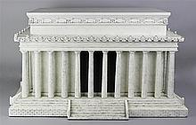 AMERICAN HERITAGE COLLECTION HUMIDOR IN SHAPE OF LINCOLN MEMORIAL ARCHITECTURAL MODEL