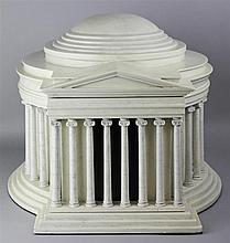 AMERICAN HERITAGE COLLECTION HUMIDOR IN SHAPE OF JEFFERSON MEMORIAL ARCHITECTURAL MODEL