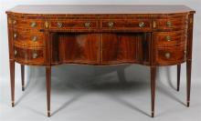 AMERICAN FEDERAL INLAID MAHOGANY SIDEBOARD, PROBABLY BALTIMORE